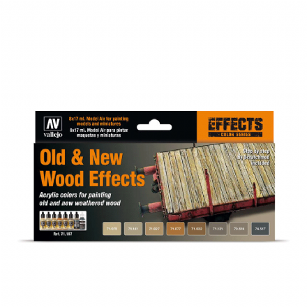 Vallejo Old & New Wood Effects Paint Set